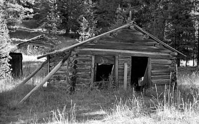 Two Cabins One Outhouse Art Print by Richard Rizzo