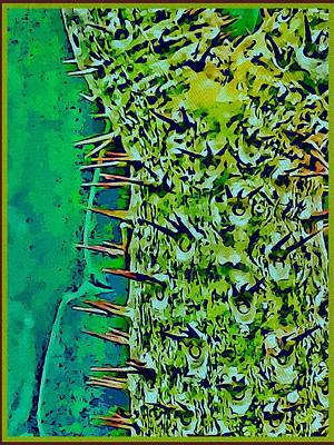 Painting - Two Cacti by Mindy Newman