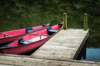 Two Canoes Art Print