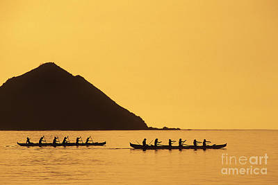 Two Canoes Silhouetted Art Print by Dana Edmunds - Printscapes