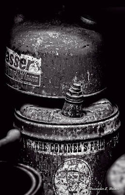 Photograph - Two Cans - Bw by Christopher Holmes