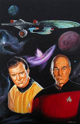 Two Captains Art Print