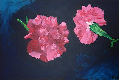 Painting - Two Carnations by Joshua Redman
