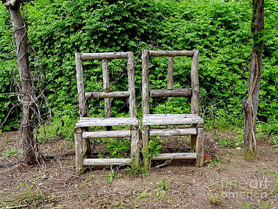 Photograph - Two Chairs by Ed Weidman