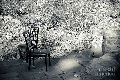 Photograph - Two Chairs - Shadows by Colleen Kammerer