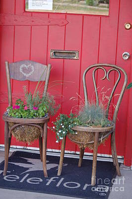Photograph - Two Chairs With Plants by Frank Stallone