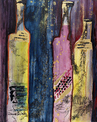 Two Chards And A Zin Original by Diana Wade