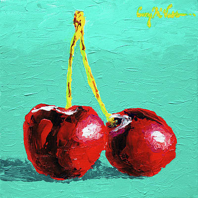 Two Cherries Original by Corey C McNabb