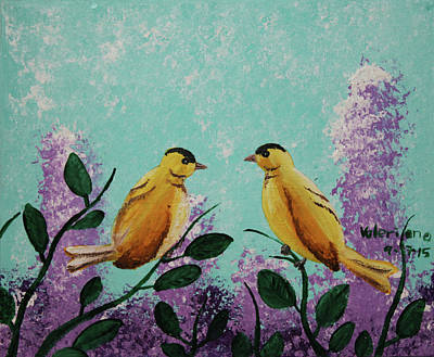 Photograph - Two Chickadees Standing On Branches by M Valeriano