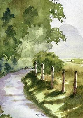 Fog Mist Painting - Two Ducks by Marsha Elliott