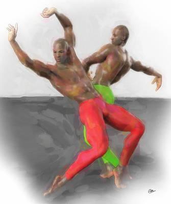 Two Classic Dancers Art Print