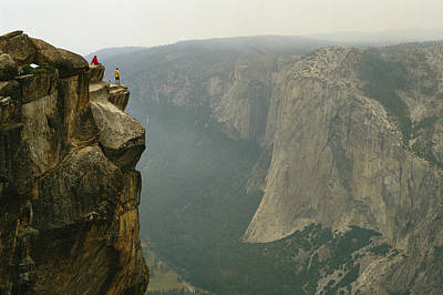 Taft Photograph - Two Climbers Take In The View by Bill Hatcher
