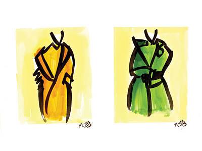 Two Coats Art Print
