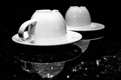 Photograph - Two Coffee Cups by Jeanette Fellows