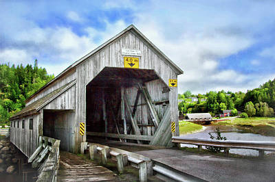 Photograph - Two Covered Bridges Of St. Martins by Carolyn Derstine