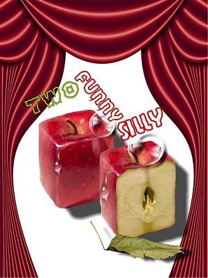 Digital Art - Two Crazy Apples by Larisa Isaeva