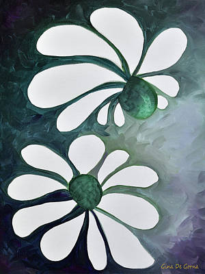 Painting - Two Daisies 2 by Gina De Gorna