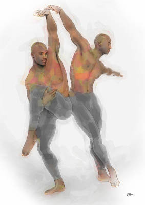 Ballet Dancers Painting - Two Dancers by Quim Abella