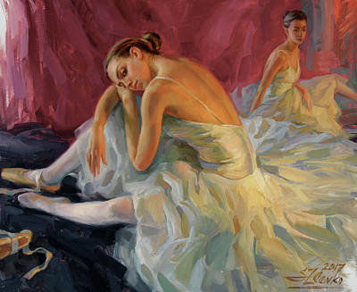 Painting - Two Dancers by Serguei Zlenko