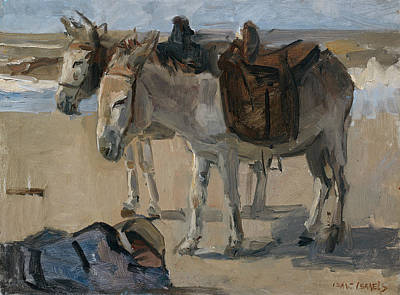 Two Donkeys Art Print by Isaac Israels