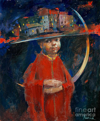 Red School House Painting - Two Dreams  by Michal Kwarciak