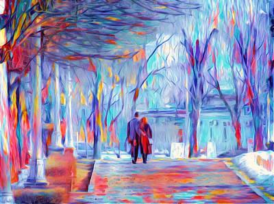 Digital Art - Two Drifters by Yury Malkov