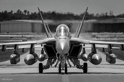 Photograph - Two F18 Growlers Taxiing by Phil Rispin