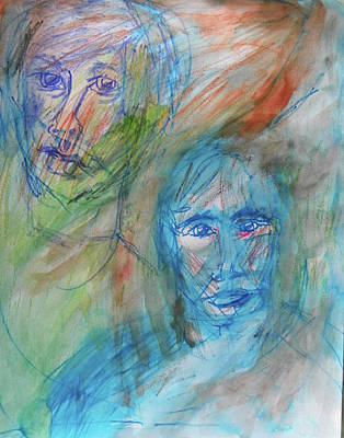 Painting - Two Faces by Judith Redman