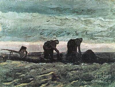 Painting - Two Farmers In Peat by Celestial Images