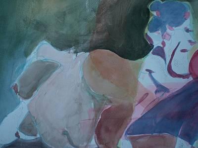 Two Figures Art Print by Aleksandra Buha