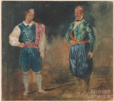 Figure Painting - Two Figures In Cypriot Costume by Celestial Images