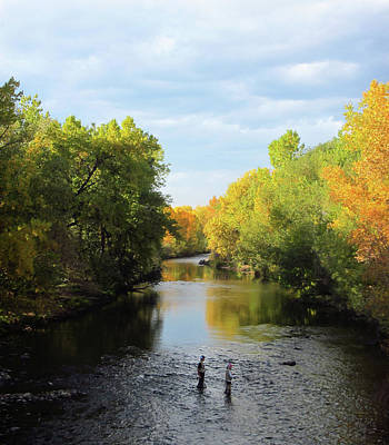 Photograph - Two Fishing In Fall by Marilyn Hunt