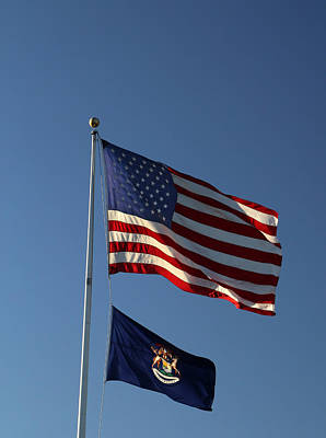 Photograph - Two Flags 10 by Mary Bedy