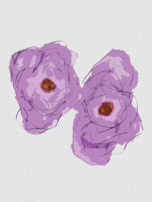 Painting - Two Flowers by Bill Owen