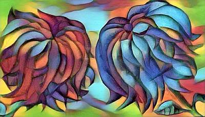 Digital Art - Two Flowers  by Megan Walsh