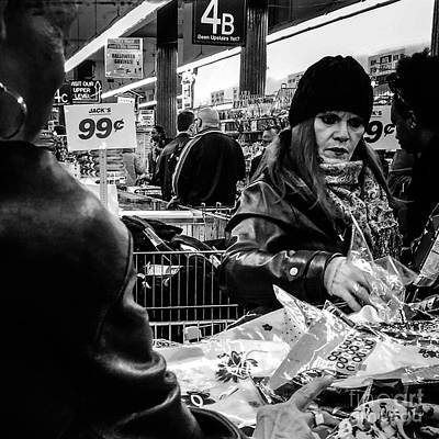 Photograph - Two For A Dollar - People Of New York by Miriam Danar