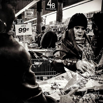 Photograph - Two For A Dollar - People Of New York - Sepia by Miriam Danar