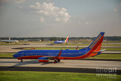 Photograph - Two For One Southwest Airlines N8327a Hartsfield Jackson Atlanta International Airport Art by Reid Callaway