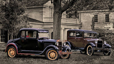 Photograph - Two Ford Model A  by Susan Rissi Tregoning