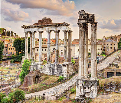 Photograph - Two Forum Temples by Weston Westmoreland