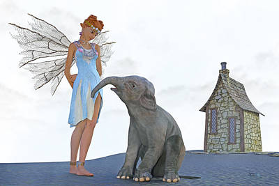 Fantasy Royalty-Free and Rights-Managed Images - Two Friends by Betsy Knapp