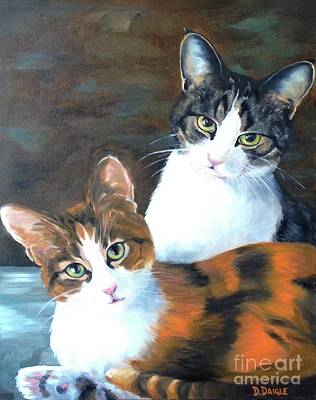 Painting - Two Friends by Diane Daigle
