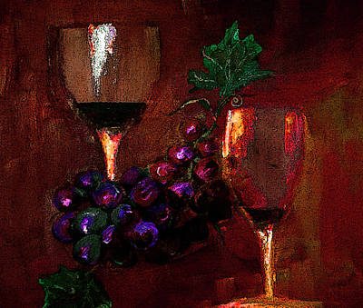 Digital Art - Two Friends Divided By Grapes Of Wrath Painting by LisaT Kaiser