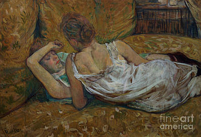 Nightgowns Painting - Two Friends by Henri de Toulouse-Lautrec