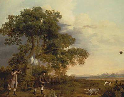 Painting - Two Gentlemen Shooting by George Stubbs