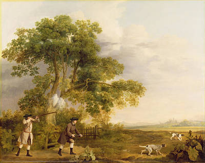Two Gentlemen Shooting  Art Print by George Stubbs