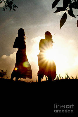 Photograph - Two Girls And Sunburst by Clayton Bastiani