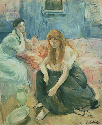 Painting - Two Girls by Berthe Morisot