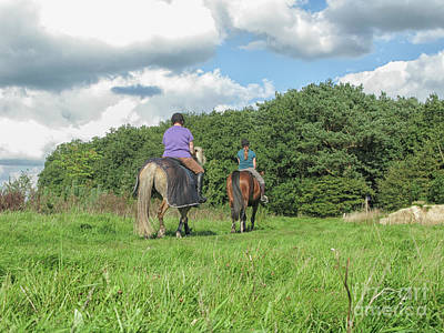 Photograph - Two Girls On Horses by Patricia Hofmeester
