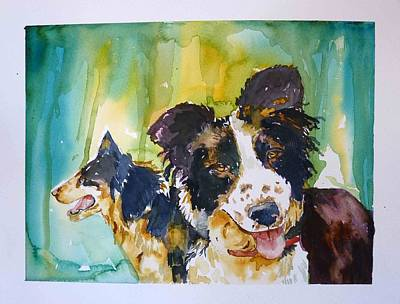 Two Good Cowdogs Original by P Maure Bausch